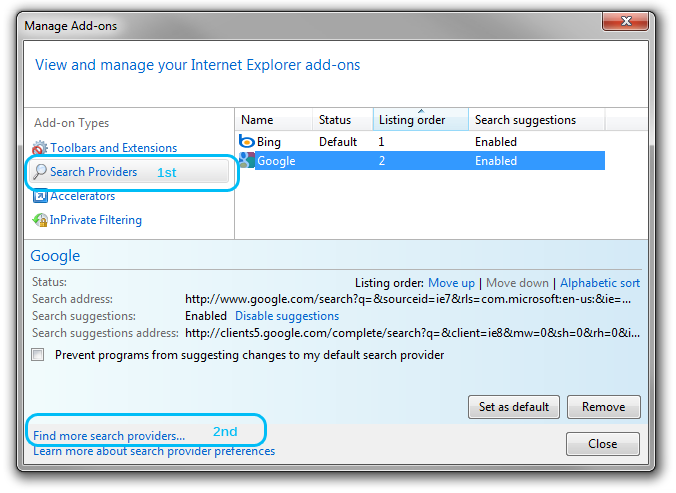 Pit add ons change search provider internet explorer 8 png