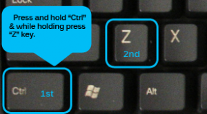 Ctrl Z keyboard keys