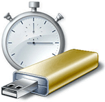 Readyboost clock and flash drive