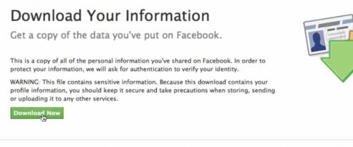 Facebook information Download Now