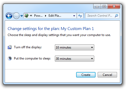 Change setting for the new plan
