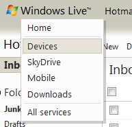 Windows Live > Devices