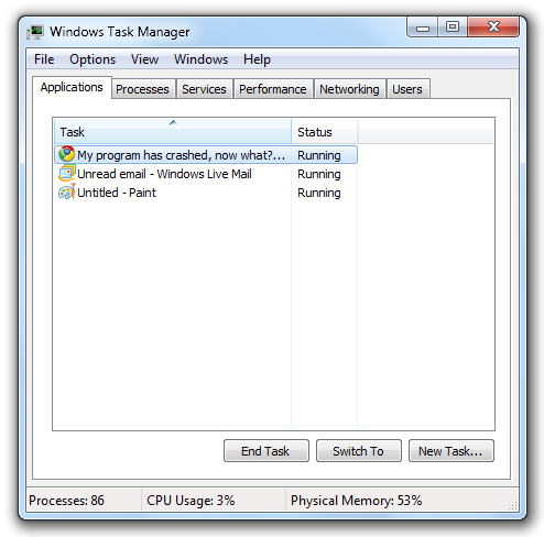 How to restart a Windows program that crashed, with Task Manager ...