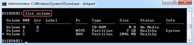 explain how to create a new volume or partition