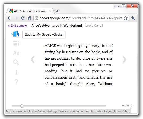 Google Web Reader - eBook reader
