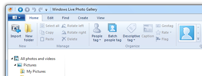Windows Live Photo Gallery 2011