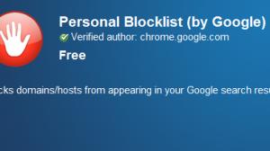 Personal Blocklist - Web store