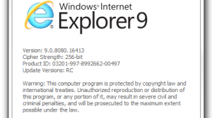 About IE9 RC