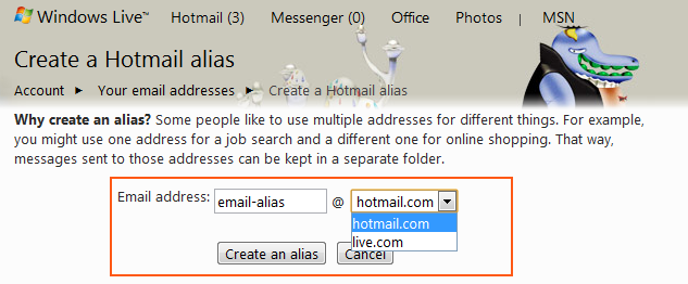 how to create new email address with hotmail
