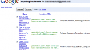 Importing Delicious bookmarks to Google Bookmarks