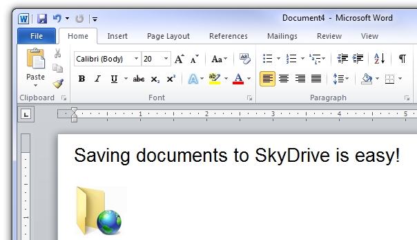 Microsoft Office 2010 - Skydrive