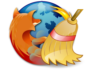 Firefox - Logo + Broom