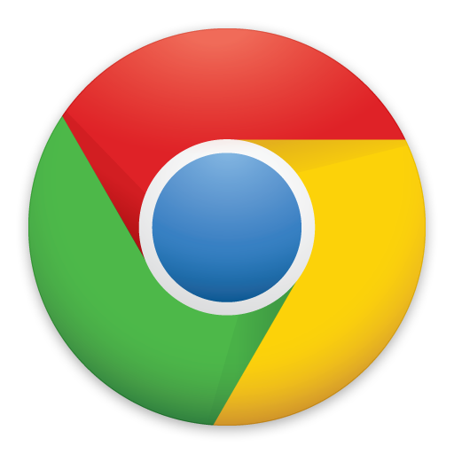 New Google Chrome Logo - Flat icon