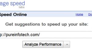 Google - Page Speed Online