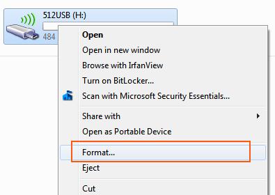Windows 7 - Option Format