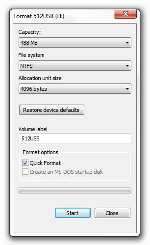 Windows 7 - Format