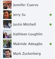 Facebook Chat sidebar