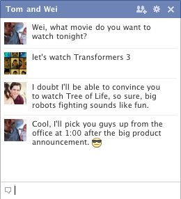 Facebook redesigned Chat