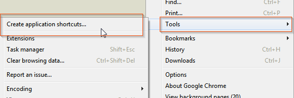 how to create desktop shortcut to a google doc