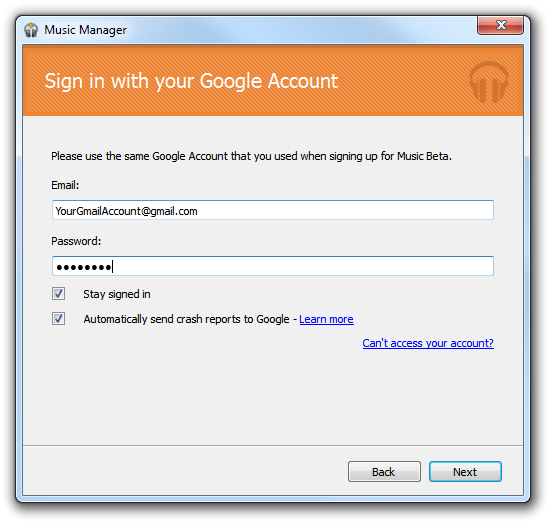 Music Beta - Sign In to Google Account