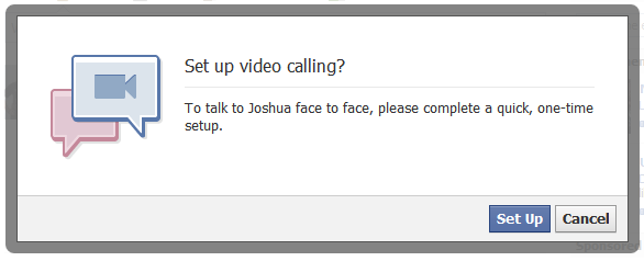 Set up Facebook video chat