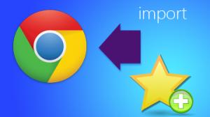 Google Chrome - Import Bookmarks
