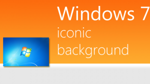 Iconic Windows 7 default background