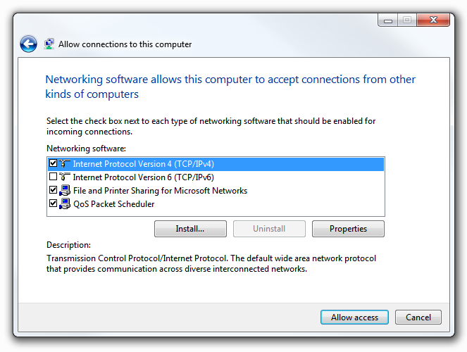 Windows 7 VPN Server - Networking Software