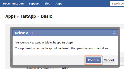 Confirm Disable Facebook Timeline