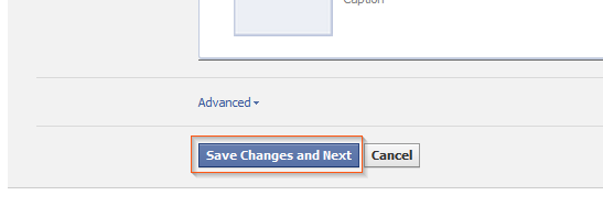 Facebook Timeline - Open Graph: Save changes