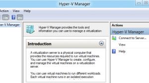 Windows 8 - Hyper-V Manager