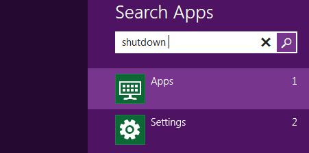 Search app in Windows 8