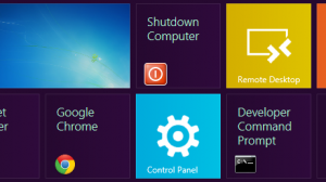 Shutdown shortcut - Start screen - Windows 8