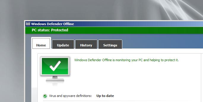 Microsoft Standalone System Sweeper - Windows Defender Offline