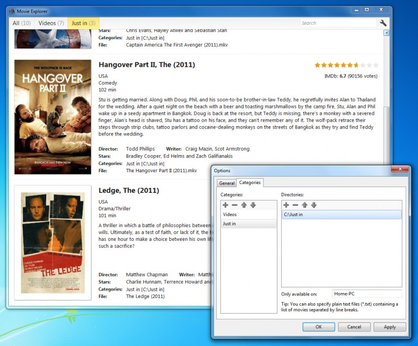 Movie Explorer for Windows