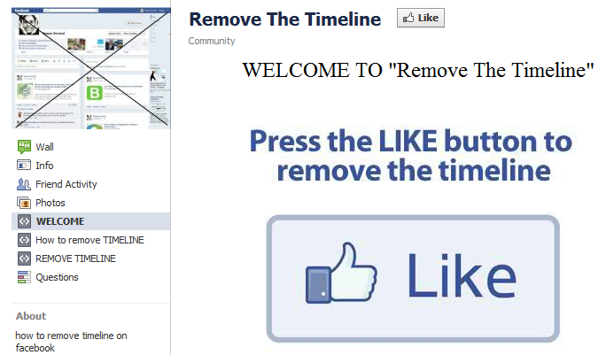 Scam - Remove Facebook Timeline