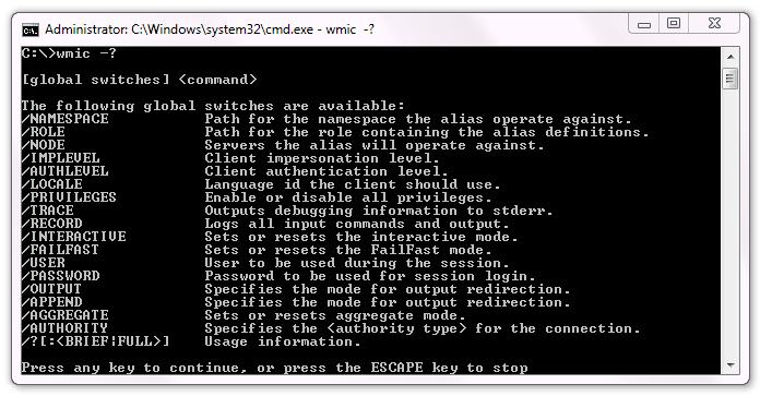 WMIC - Windows Management Instrumentation - Command