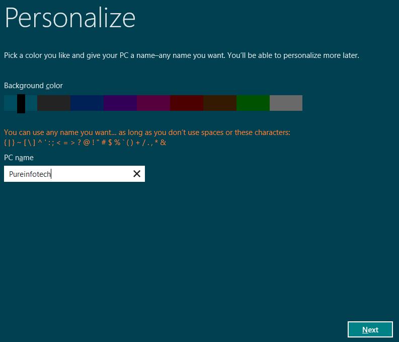 Personalize - Windows 8 Consumer Preview