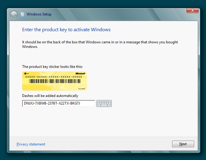 Walkthrough windows 8 consumer preview installation for Window 8 1 product key