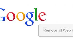 Remove Google Web History
