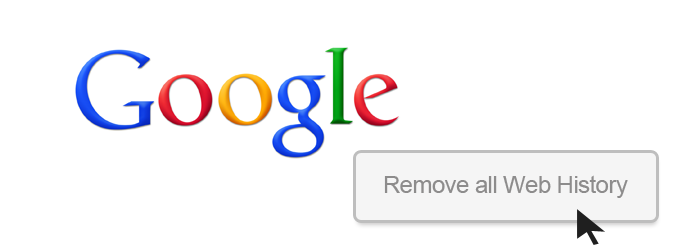 how to delete google tracking history