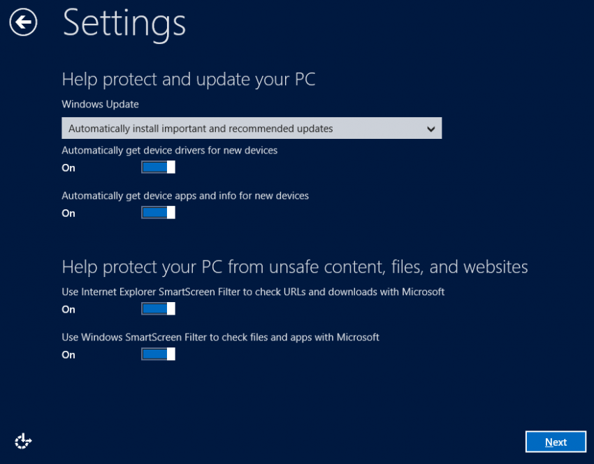 Settings: Windows Update - Windows 8 Consumer Preview