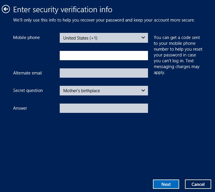 Account verification - Windows 8 Consumer Preview