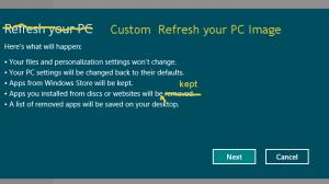 Custom Refresh Point - Windows 8