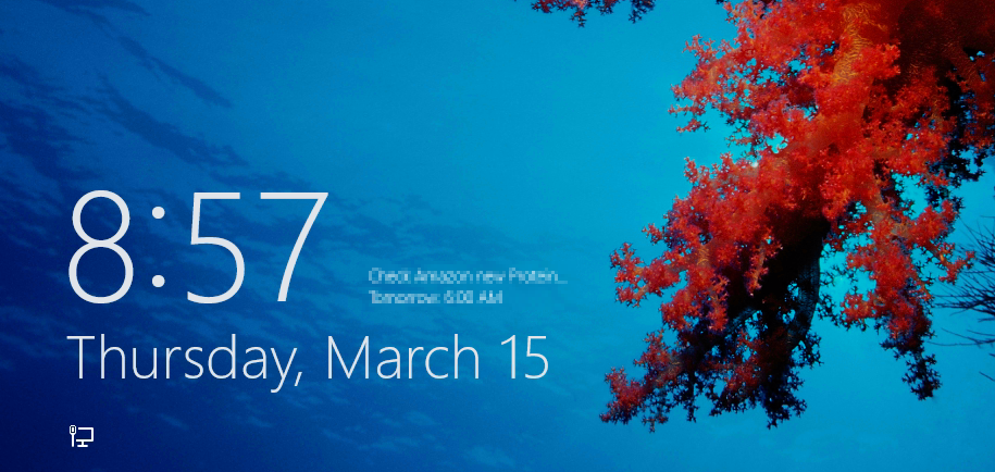 Lock screen - Windows 8