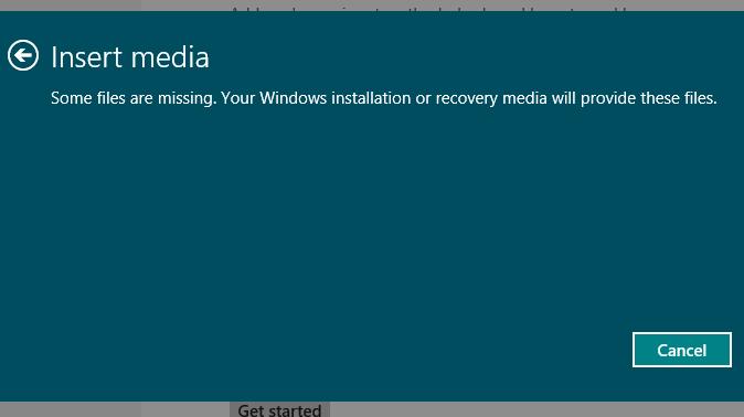 Reset your PC - Insert Media