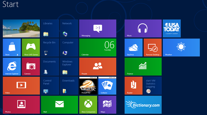 Shortcuts Start Screen Windows 8