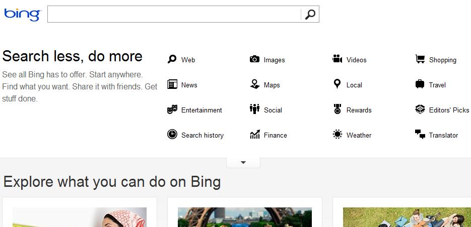 Bing options