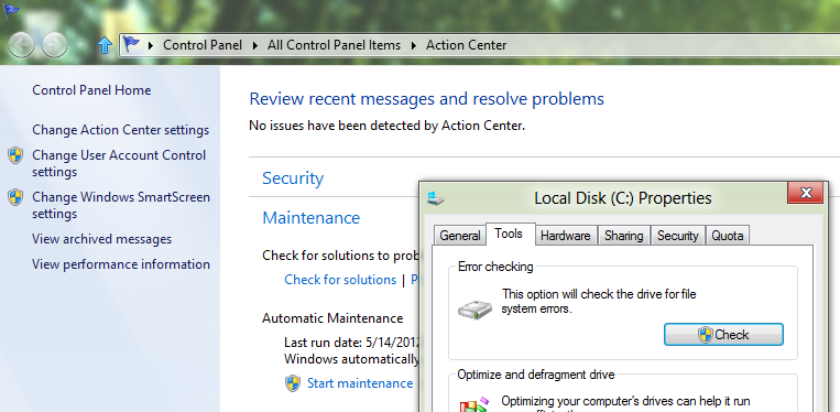 CHKDSK in Windows 8