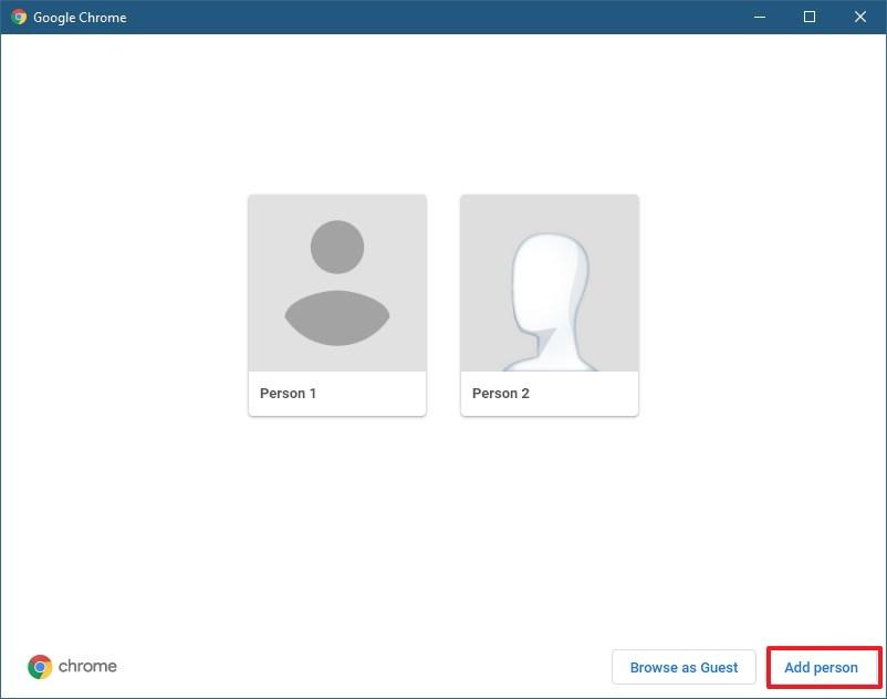 Create new profile on Chrome